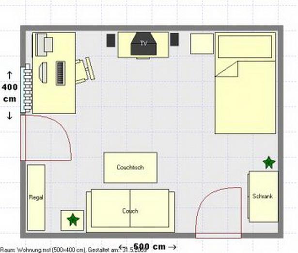 einrichten 1 zimmer wohnung. Black Bedroom Furniture Sets. Home Design Ideas