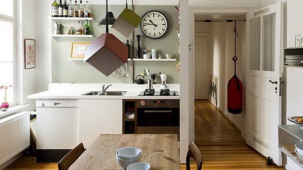 kleine wohnk che einrichten. Black Bedroom Furniture Sets. Home Design Ideas