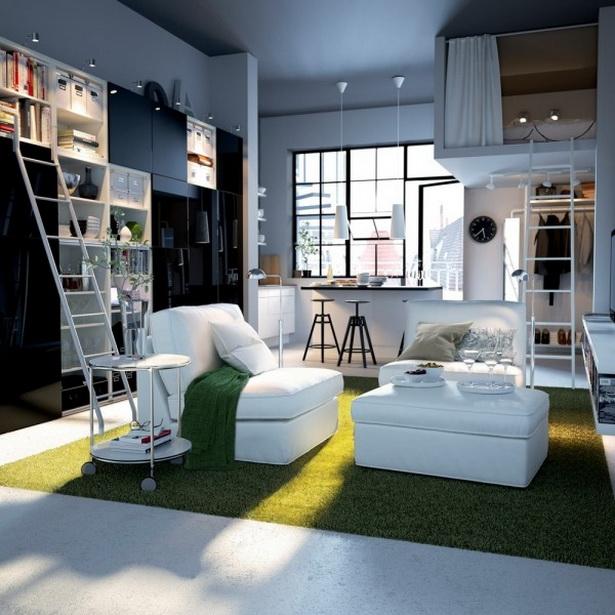 kleines wohnschlafzimmer einrichten