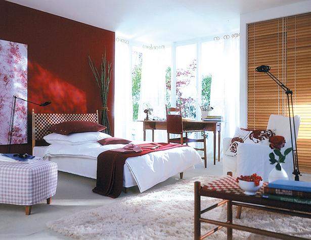 rotes schlafzimmer. Black Bedroom Furniture Sets. Home Design Ideas