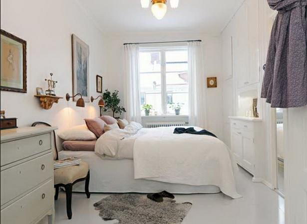 kleines schlafzimmer einrichten mit installation klassisch schlafmbel in wei farbeschema dekor fr landhausstil kleine schlafzimmer gestaltung ideen - Schlafzimmer Inspirationen