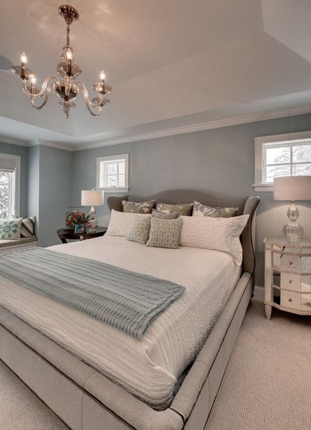 Schlafzimmer wand grau