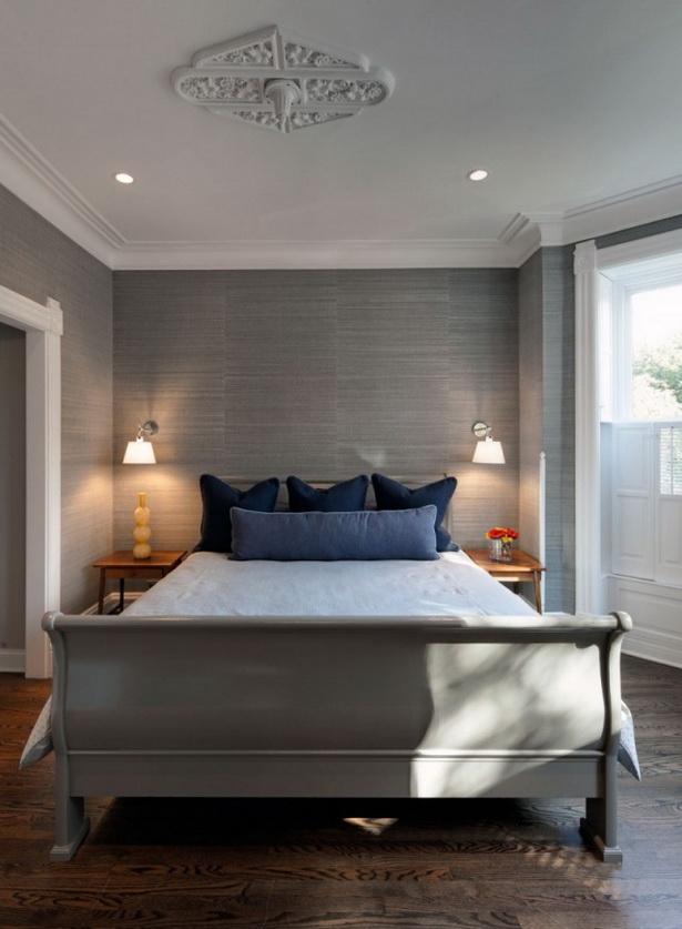 Tapeten Schlafzimmer Modern : Wanddesign ideen modern graue tapeten ...