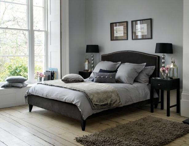 Wand im schlafzimmer gestalten - Schlafzimmer gestalten grau ...