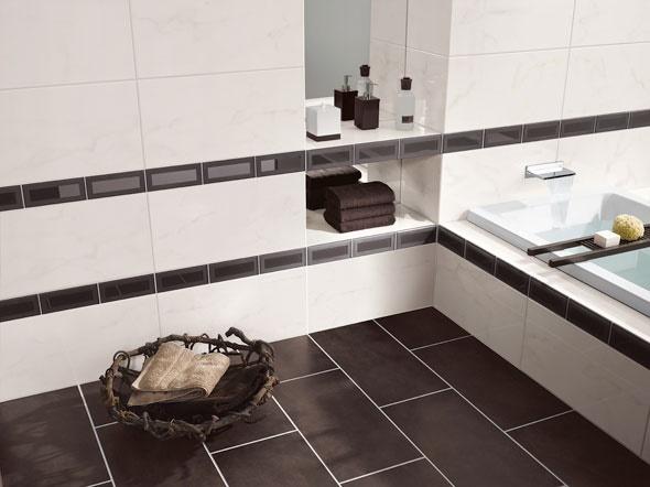 bad fliesen ideen schwarz wei. Black Bedroom Furniture Sets. Home Design Ideas