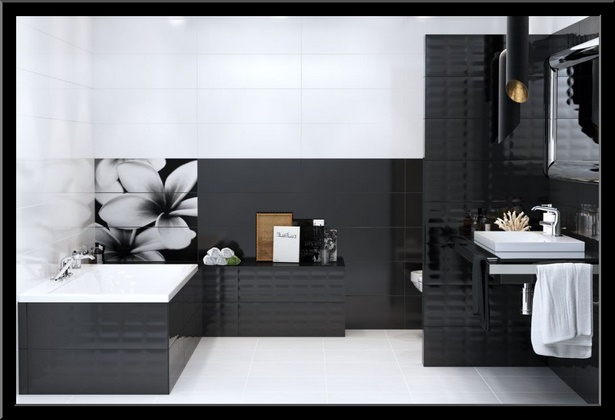 bad fliesen ideen schwarz wei. Black Bedroom Furniture Sets. Home Design Ideas