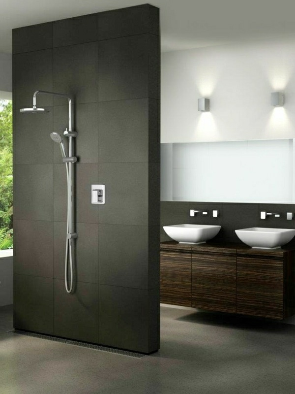 badezimmer dusche modern. Black Bedroom Furniture Sets. Home Design Ideas
