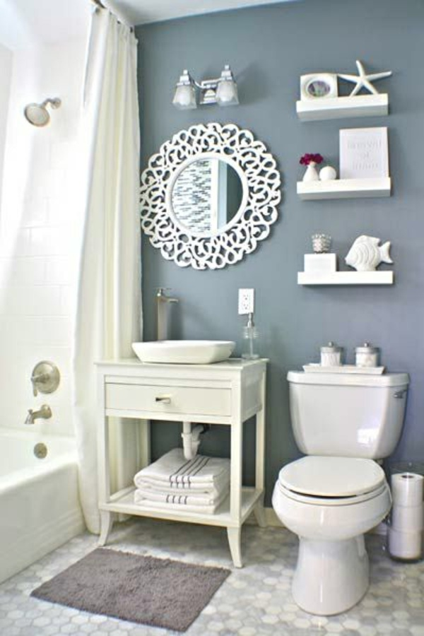 Badezimmer gemütlich einrichten
