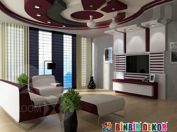 decken dekoration wohnzimmer. Black Bedroom Furniture Sets. Home Design Ideas