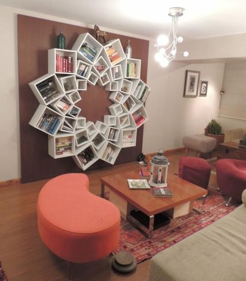 Originelle Bücherregale deko ideen bücherregal
