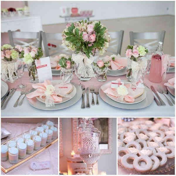 Deko ideen rosa - Hochzeitsdeko grau rosa ...