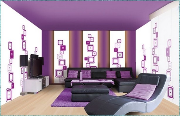 deko lila wohnzimmer. Black Bedroom Furniture Sets. Home Design Ideas