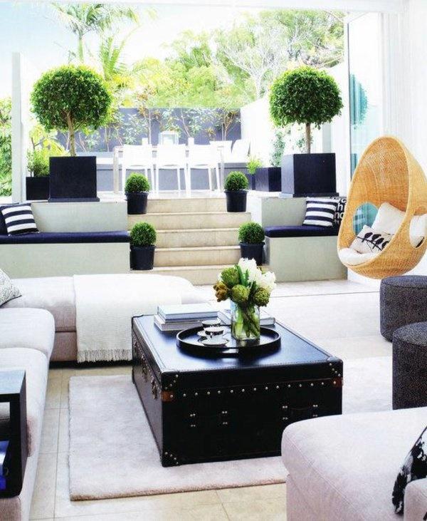 Pflanzen Wohnzimmer Ideen: Deko Pflanzen Wohnzimmer