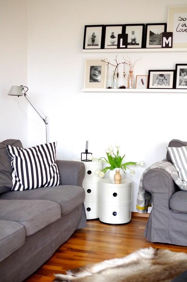 deko schwarz wei wohnzimmer