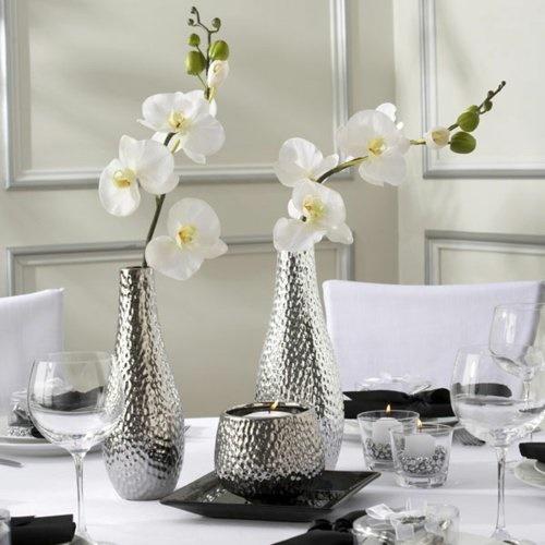 wohnzimmer dekoration silber mbelideen - Wohnzimmer Silber
