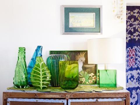Deko wohnzimmer grün