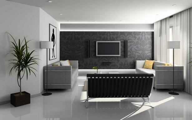 Deko wohnzimmer schwarz weiß