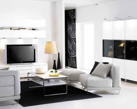 wohnzimmer deko schwarz weiss. Black Bedroom Furniture Sets. Home Design Ideas