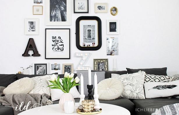 deko wohnzimmer schwarz wei223