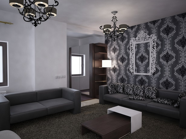 wohnzimmer schwarz weis silber. Black Bedroom Furniture Sets. Home Design Ideas
