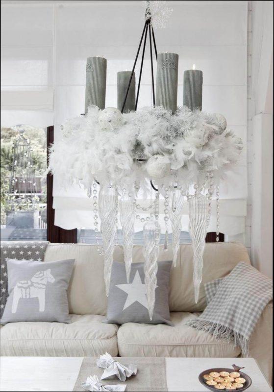 Wohnzimmer deko weis
