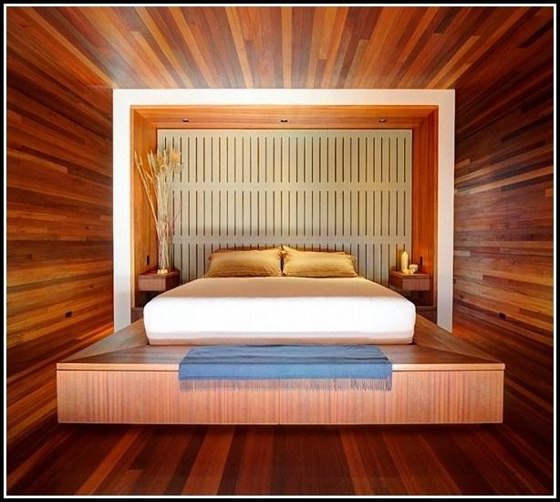 Beige Weiss Streifen Wand Bequem Moderne Deko Ideen Plus: Dekoidee Schlafzimmer