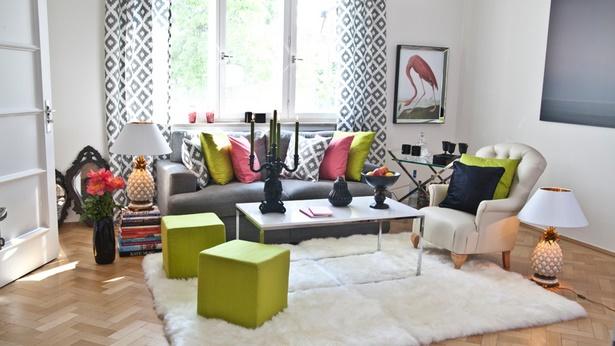 Dekoideen wohnzimmer grün