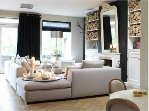 Dekoideen wohnzimmer regal