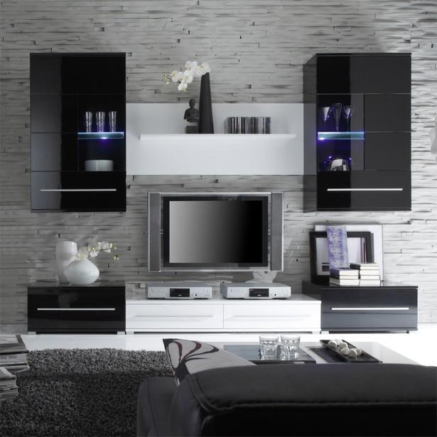 dekoration wohnzimmer schwarz wei223
