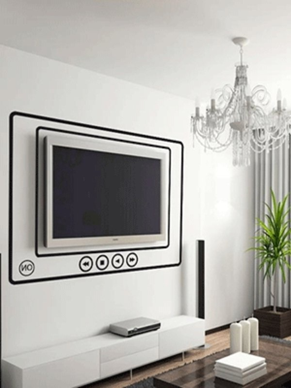 fernseher dekorieren. Black Bedroom Furniture Sets. Home Design Ideas