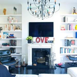 fernseher dekorieren. Black Bedroom Furniture Sets. Home Design Ideas