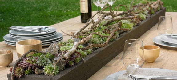 Gartentisch ideen kreative ideen f r innendekoration und - Gartentisch deko ...
