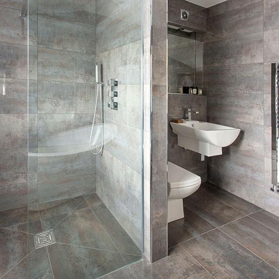 Geflieste badezimmer