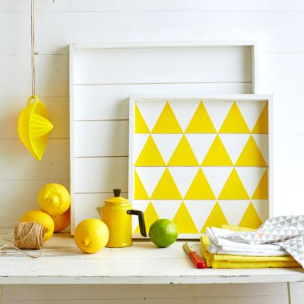 gelbe deko wohnzimmer