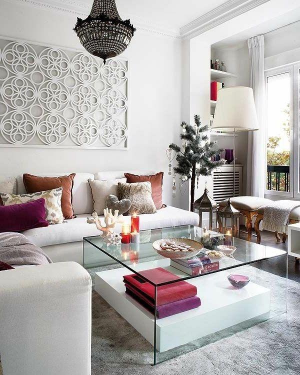 Wohnzimmer Einrichtungsvorschläge: Glastisch Deko Ideen