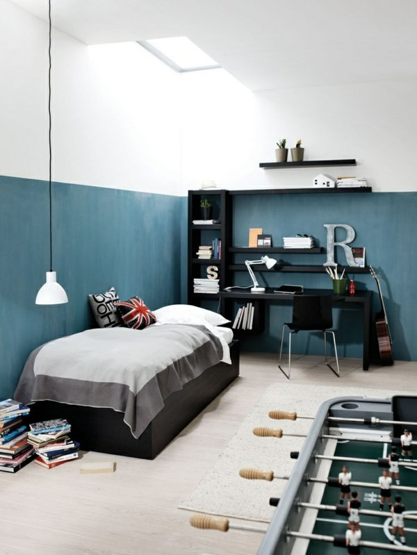 jugendzimmer f r 2 jungs. Black Bedroom Furniture Sets. Home Design Ideas