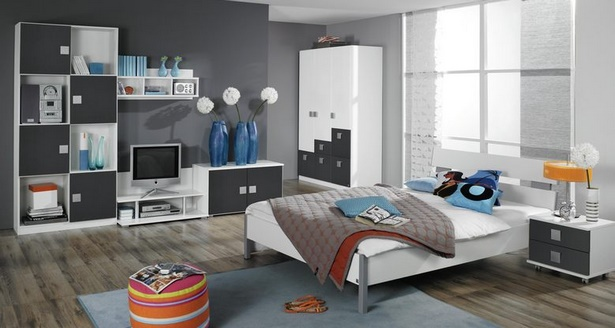 jugendzimmer grau wei. Black Bedroom Furniture Sets. Home Design Ideas
