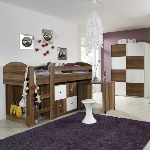jugendzimmer mit hochbett komplett. Black Bedroom Furniture Sets. Home Design Ideas