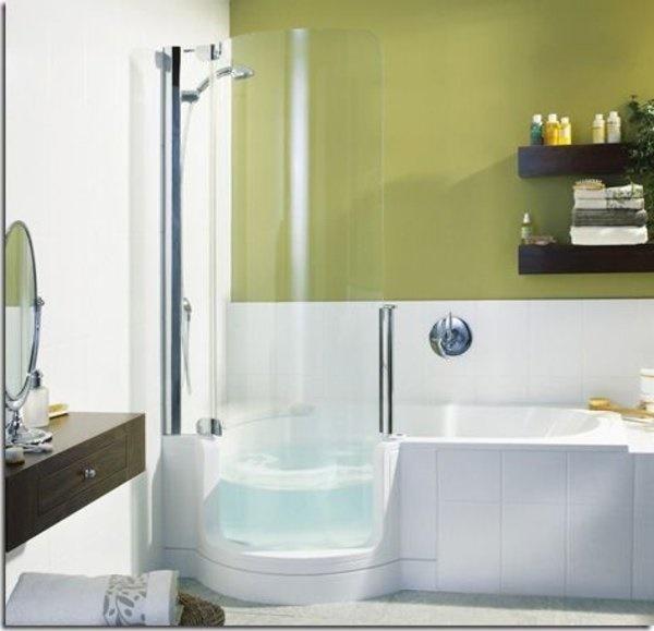 kleines bad dusche und badewanne. Black Bedroom Furniture Sets. Home Design Ideas