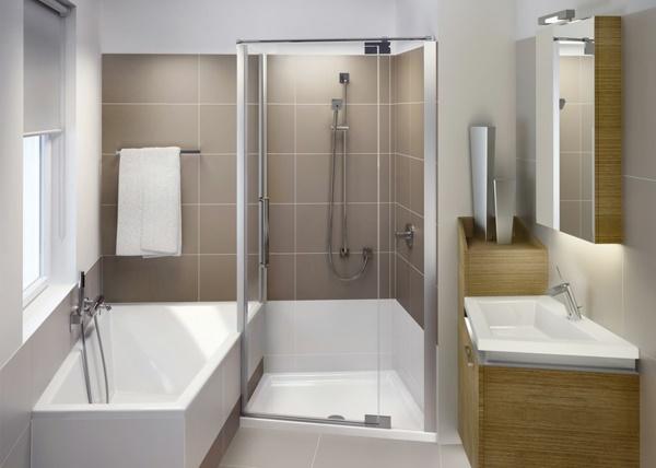 kleines bad mit wanne und dusche. Black Bedroom Furniture Sets. Home Design Ideas