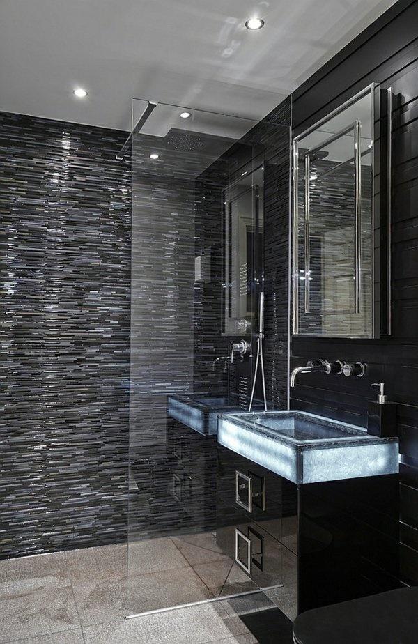 kleines badezimmer modern gestalten. Black Bedroom Furniture Sets. Home Design Ideas