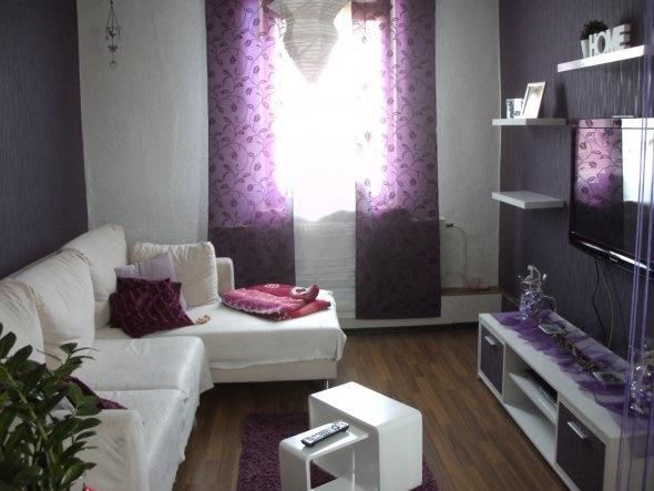 Lila deko wohnzimmer