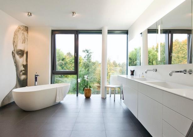 Moderne b der mit freistehender badewanne for Moderne bader ohne fliesen