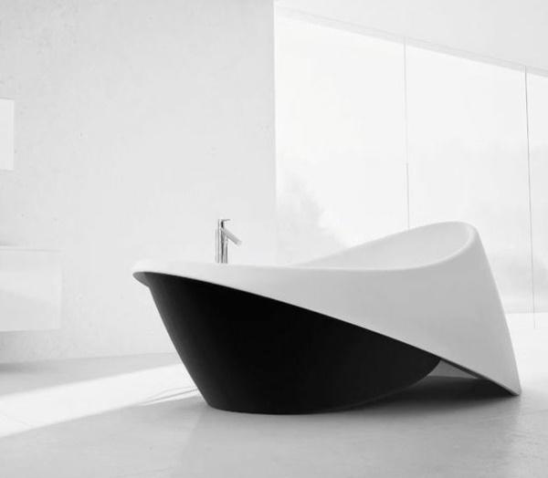 moderne b der mit freistehender badewanne. Black Bedroom Furniture Sets. Home Design Ideas