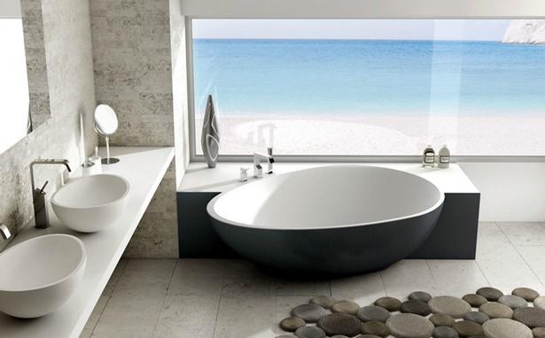 Moderne b der mit freistehender badewanne for Badezimmer mit badewanne