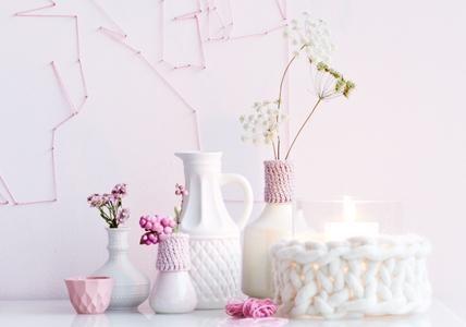 rosa dekoartikel
