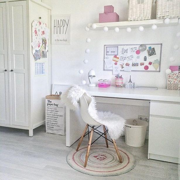 Deko Ideen Kinderzimmer Mädchen: Schreibtisch Deko Ideen