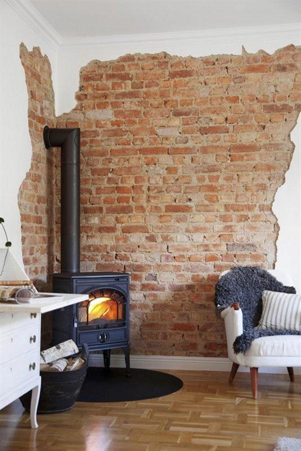 Stein deko wohnzimmer