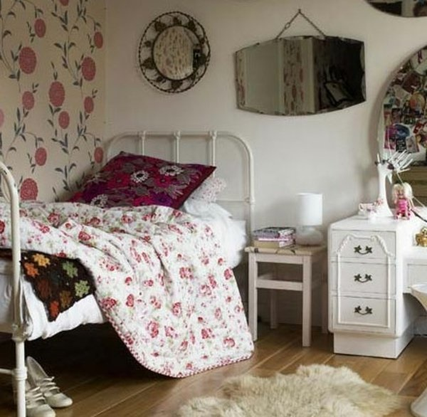 vintage schlafzimmer deko. Black Bedroom Furniture Sets. Home Design Ideas