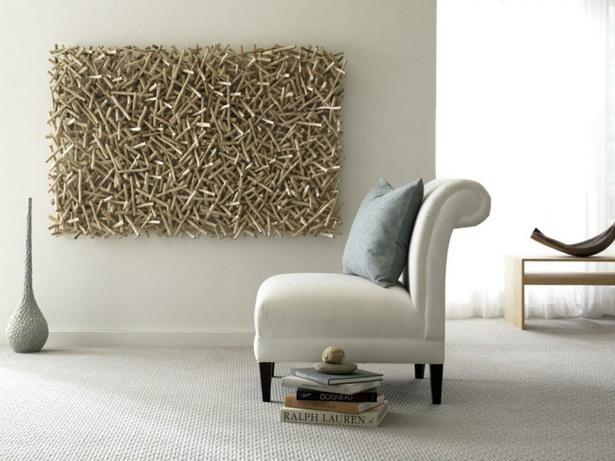 Wanddeko wohnzimmer holz for Holz dekoration wohnzimmer